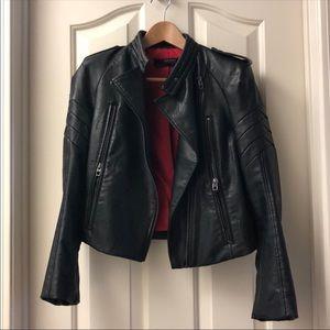 Zara Basic Faux Leather Jacket (S)